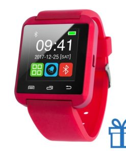 Smart watch meertalig 1,44 inch rood bedrukken