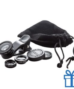 Smartphone lens kit zwart bedrukken