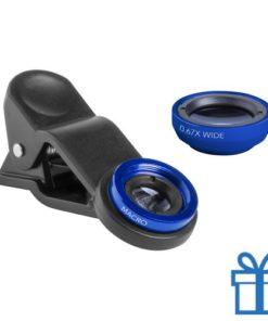Smartphone lens set van 2 blauw bedrukken
