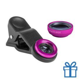 Smartphone lens set van 2 roze bedrukken