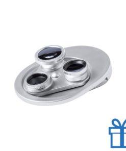 Smartphone lens verstelbaar zilver bedrukken