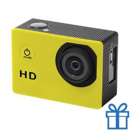 Sport camera 720p HD geel bedrukken