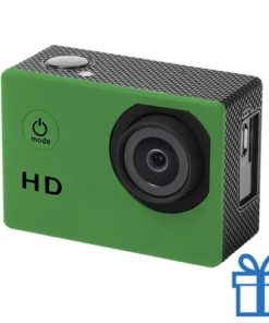 Sport camera 720p HD groen bedrukken