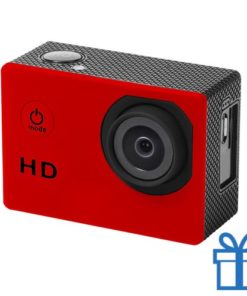 Sport camera 720p HD rood bedrukken