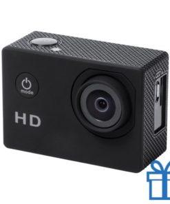 Sport camera 720p HD zwart bedrukken