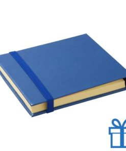 Sticky notes 3 maten blauw bedrukken