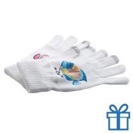 Touch screen handschoenen sublimatie bedrukken