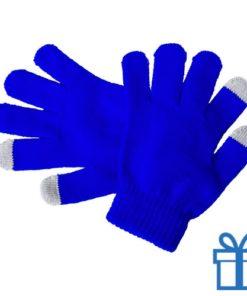 Touch screen handschoenen voor kinderen blauw bedrukken