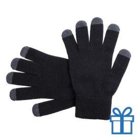 Touch screen handschoenen zwart bedrukken