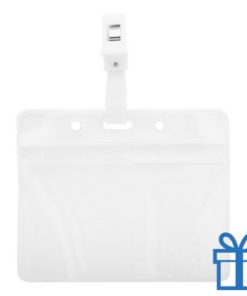 Transparante plastic badgehouder  bedrukken