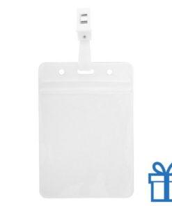 Transparante plastic kaarthouder bedrukken
