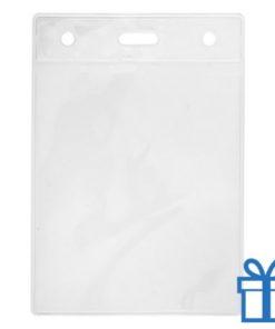Transparante plastic pashouder bedrukken