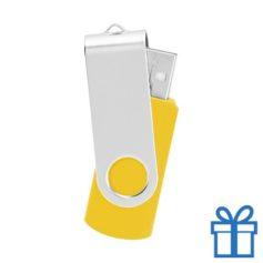USB Stick metaal geel bedrukken