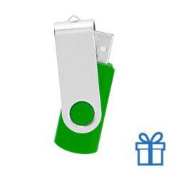 USB Stick metaal groen bedrukken