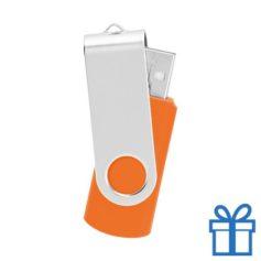 USB Stick metaal oranje bedrukken