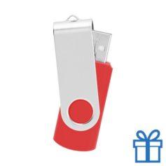 USB Stick metaal rood bedrukken