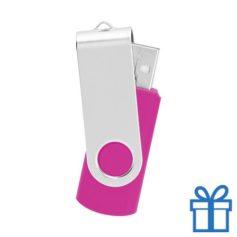 USB Stick metaal roze bedrukken
