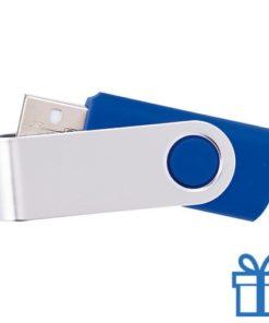 USB Stick metalen plastic 8GB blauw bedrukken