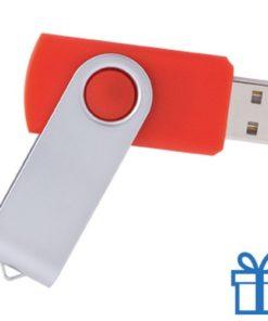 USB Stick metalen plastic 8GB rood bedrukken
