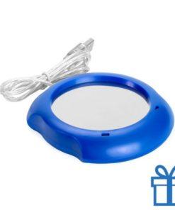 USB Warmhoudplaatje blauw bedrukken