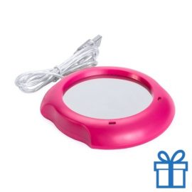 USB Warmhoudplaatje roze bedrukken