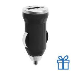 USB auto oplader goedkoop 1000mA zwart bedrukken