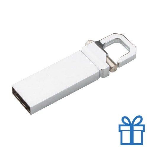 USB flash drive karabijnhaak 8GB bedrukken