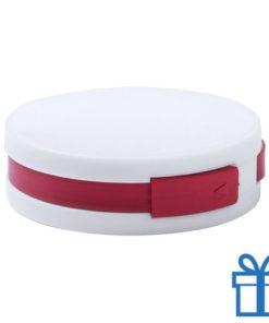 USB hub 4 ingangen 2.0 rood bedrukken