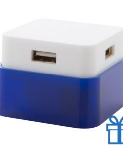USB hub 4 poorten 2.0 blauw bedrukken