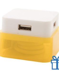 USB hub 4 poorten 2.0 geel bedrukken