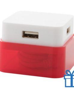 USB hub 4 poorten 2.0 rood bedrukken