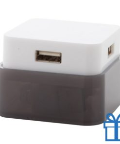 USB hub 4 poorten 2.0 zwart bedrukken