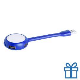 USB hub 4 poorten flexibel blauw bedrukken