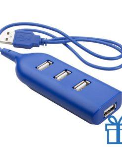 USB hub 4 poorten goedkoop blauw bedrukken