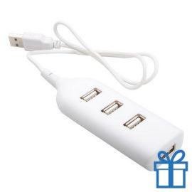 USB hub 4 poorten goedkoop wit bedrukken