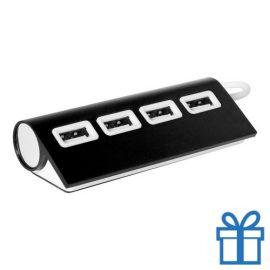 USB hub aluminium 4 ingangen 2.0 zwart bedrukken