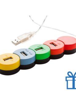 USB hub gekleurd 4 poorten bedrukken