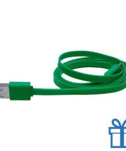 USB lader micro kabel 50cm groen bedrukken