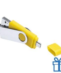 USB otg flits 8GB geel bedrukken