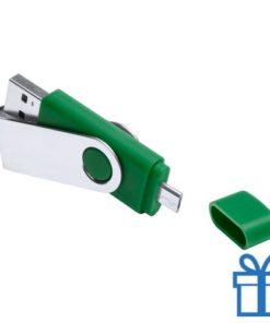 USB otg flits 8GB groen bedrukken