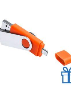 USB otg flits 8GB oranje bedrukken