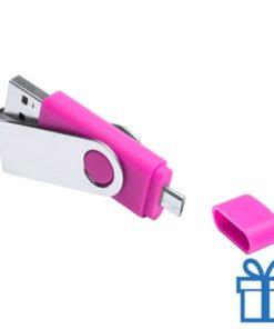 USB otg flits 8GB roze bedrukken