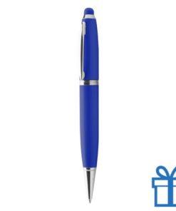 USB pen luxe blauw bedrukken