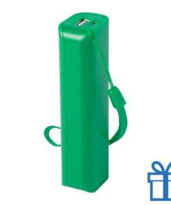 USB power bank 1200 mAh groen bedrukken
