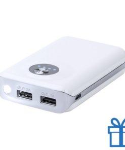 USB power bank 2 laadpoorten 6000 mAh bedrukken