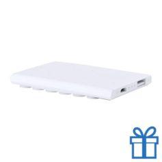 USB power bank 2000 mAh zuignap wit bedrukken