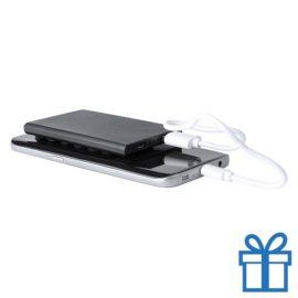 USB power bank 2000 mAh zuignap zwart bedrukken