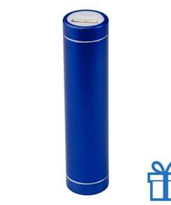 USB power bank 2200 mAh alumicroum blauw bedrukken