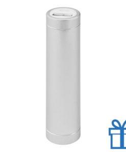 USB power bank 2200 mAh alumicroum zilver bedrukken