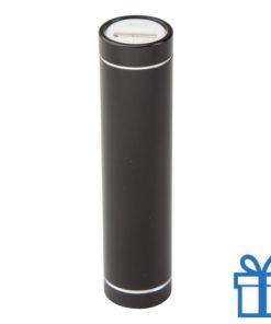 USB power bank 2200 mAh alumicroum zwart bedrukken